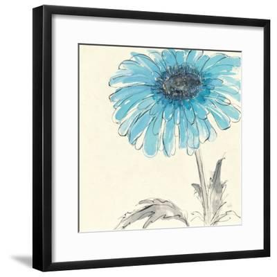 Gerbera Blue II-Chris Paschke-Framed Art Print