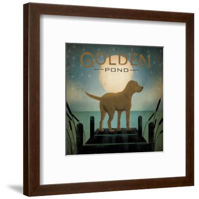 Moonrise Yellow Dog-Ryan Fowler-Framed Art Print