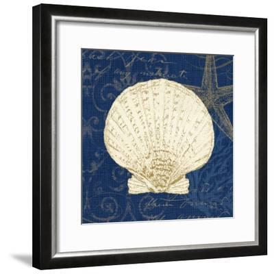 Coastal Moonlight II Teal Center-Pela Design-Framed Art Print