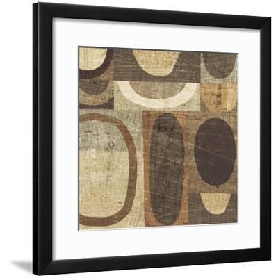 Modern Geometric Neutral I-Michael Mullan-Framed Art Print