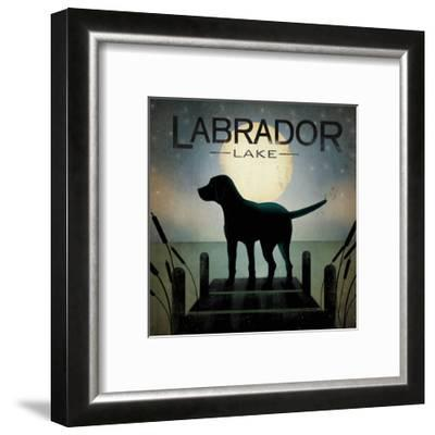 Moonrise Black Dog-Ryan Fowler-Framed Premium Giclee Print