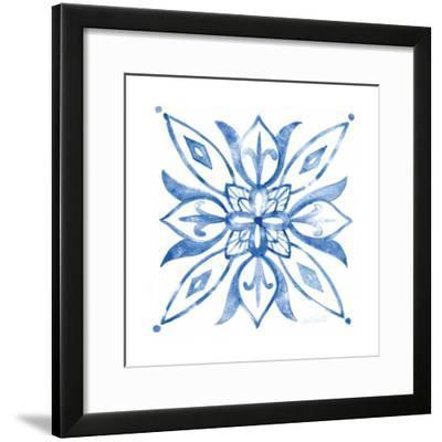 Tile Stencil II Blue-Anne Tavoletti-Framed Art Print