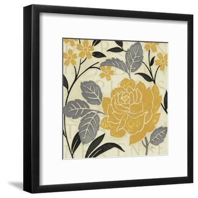 Perfect Petals II Yellow-Pela Design-Framed Art Print