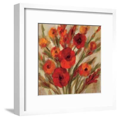 Crimson Blooms II Crop--Framed Art Print