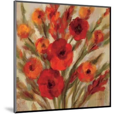 Crimson Blooms II Crop--Mounted Art Print