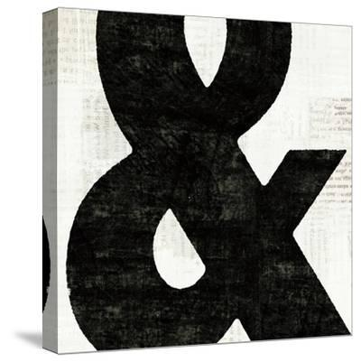 Punctuated Black Square III--Stretched Canvas Print