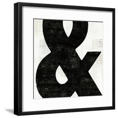 Punctuated Black Square III--Framed Premium Giclee Print