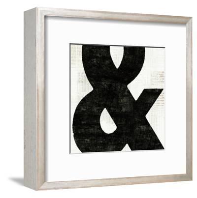 Punctuated Black Square III--Framed Art Print