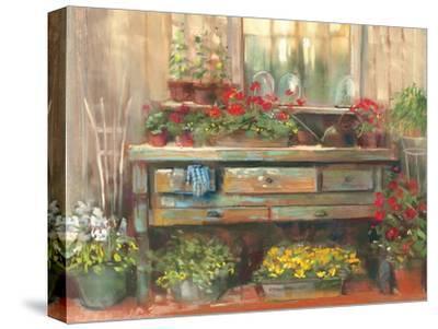 Gardners Table-Carol Rowan-Stretched Canvas Print