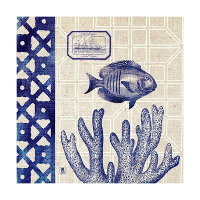 Sea Shore Square I-Sarah Mousseau-Art Print
