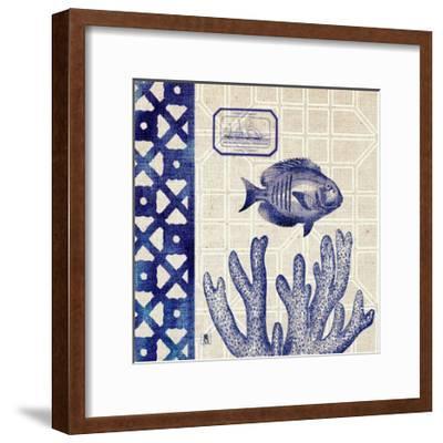 Sea Shore Square I-Sarah Mousseau-Framed Art Print