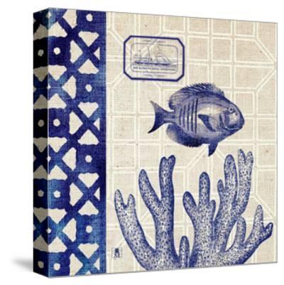 Sea Shore Square I-Sarah Mousseau-Stretched Canvas Print