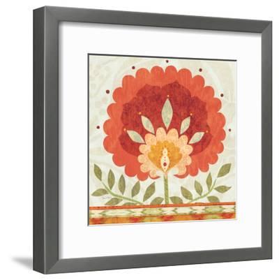 Ikat Bloom II--Framed Art Print