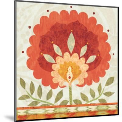Ikat Bloom II--Mounted Art Print