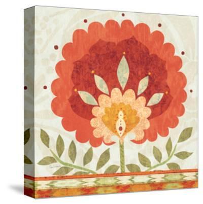 Ikat Bloom II--Stretched Canvas Print