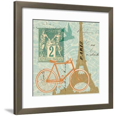 Postcard from Paris Collage--Framed Art Print