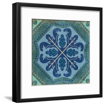 Santorini Tile II-Pela Design-Framed Art Print