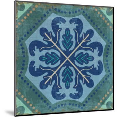 Santorini Tile II-Pela Design-Mounted Art Print