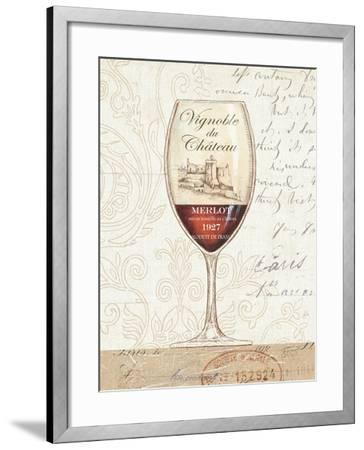 Wine by the Glass II-Daphne Brissonnet-Framed Premium Giclee Print