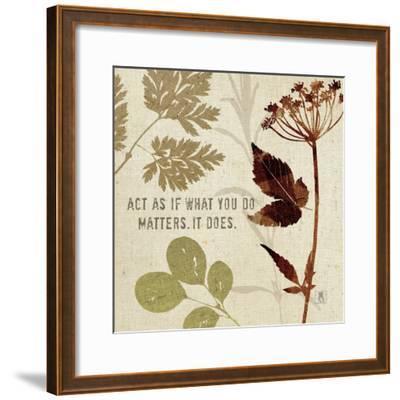 Leaves of Inspiration IV-Sarah Mousseau-Framed Art Print