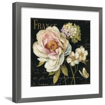 Marche de Fleurs on Black-Lisa Audit-Framed Premium Giclee Print