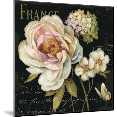 Marche de Fleurs on Black-Lisa Audit-Mounted Premium Giclee Print