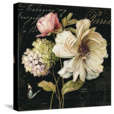 Marche de Fleurs on Black II-Lisa Audit-Stretched Canvas Print