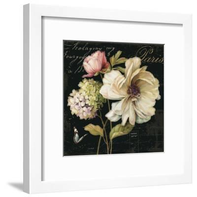 Marche de Fleurs on Black II-Lisa Audit-Framed Art Print