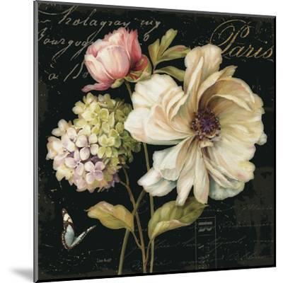 Marche de Fleurs on Black II-Lisa Audit-Mounted Art Print