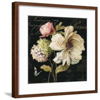 Marche de Fleurs on Black II-Lisa Audit-Framed Premium Giclee Print