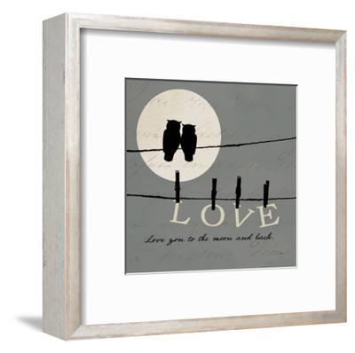 Moon Lovers I-Pela Design-Framed Art Print