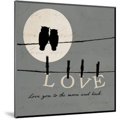 Moon Lovers I-Pela Design-Mounted Art Print