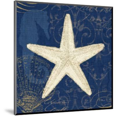 Coastal Moonlight I Teal Center-Pela Design-Mounted Art Print