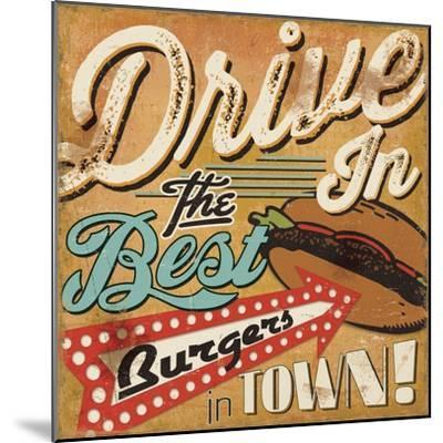 Diners and Drive Ins I-Pela Design-Mounted Art Print