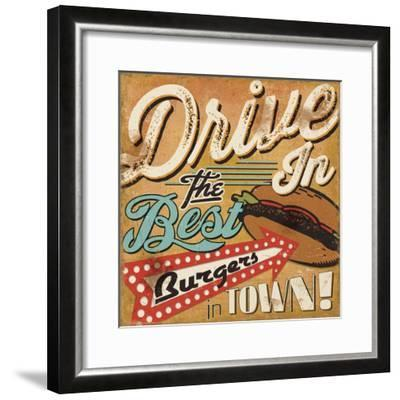 Diners and Drive Ins I-Pela Design-Framed Art Print