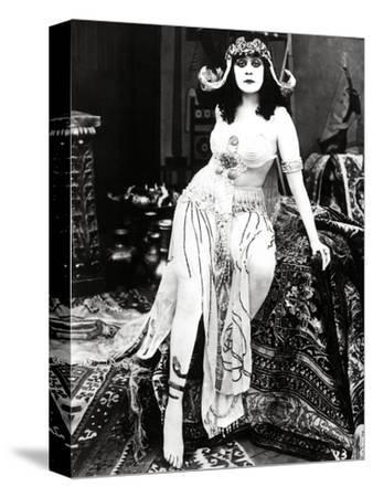 """Theda Bara. """"Cleopatra"""" 1917, Directed by J. Gordon Edwards--Stretched Canvas Print"""