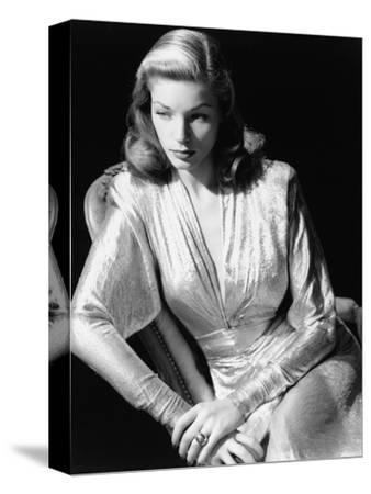 Lauren Bacall, 1945. 1945--Stretched Canvas Print