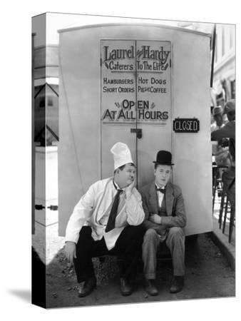 Oliver Hardy, Stan Laurel, Pack Up Your Troubles, 1932--Stretched Canvas Print