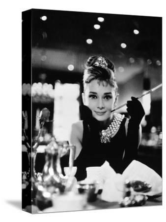 "Audrey Hepburn. ""Breakfast At Tiffany's"" 1961, Directed by Blake Edwards--Stretched Canvas Print"