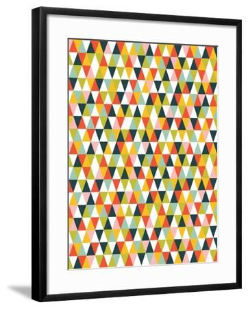Alphabet Diamond Pattern-Tamara Robinson-Framed Art Print