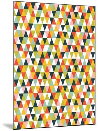 Alphabet Diamond Pattern-Tamara Robinson-Mounted Art Print