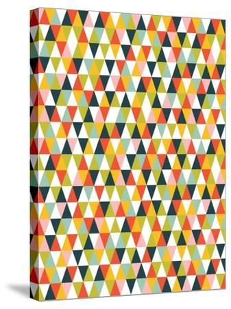 Alphabet Diamond Pattern-Tamara Robinson-Stretched Canvas Print