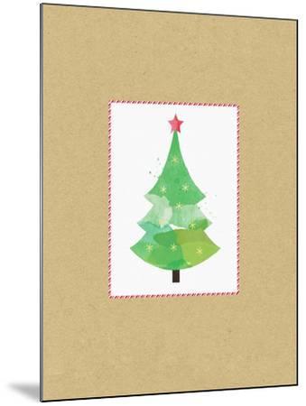 Tree on Kraft 2-Linda Woods-Mounted Art Print