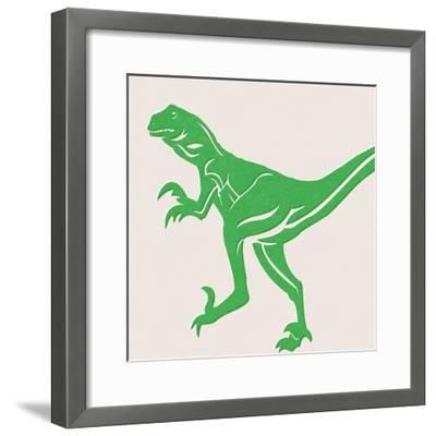 Dino 1-Linda Woods-Framed Art Print