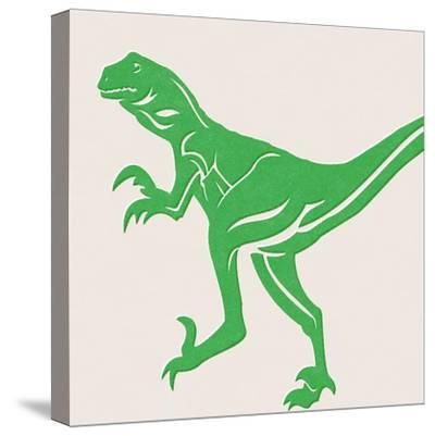 Dino 1-Linda Woods-Stretched Canvas Print