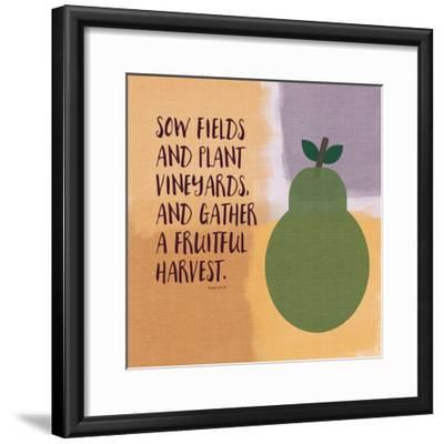 Psalm107 Fruitfulharvest-Linda Woods-Framed Art Print