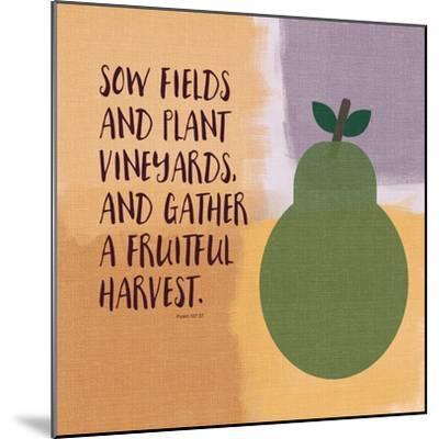 Psalm107 Fruitfulharvest-Linda Woods-Mounted Art Print