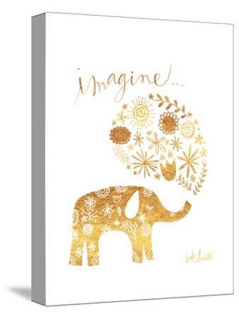 Imagine Elephant-Katie Doucette-Stretched Canvas Print