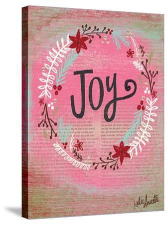 Joy Wreath-Katie Doucette-Stretched Canvas Print