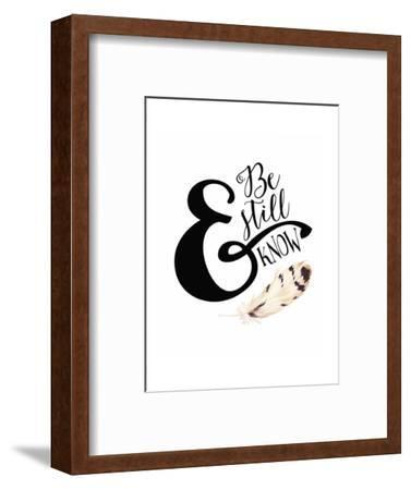Be Still and Know Feather-Tara Moss-Framed Art Print